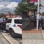 Cowardly DC Metro Cop Jacks Up Little Girl Against Police Car