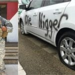 "Black Soldier's Vehicle Vandalized & ""Die Ni**er"" Spray Painted On Door"
